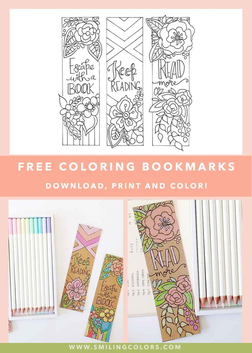 Free Coloring Bookmarks To Make Your Reading Colorful Smiling Colors