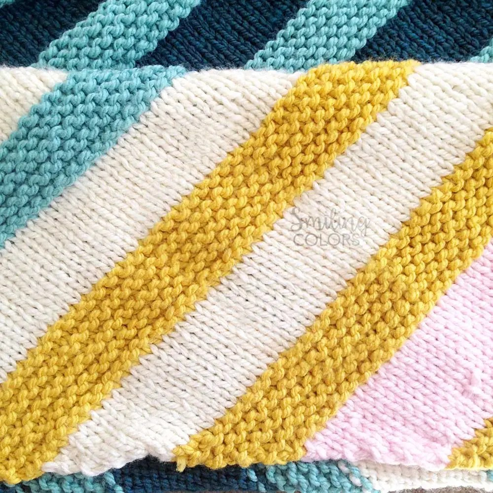 corner to corner baby blanket with FREE pattern