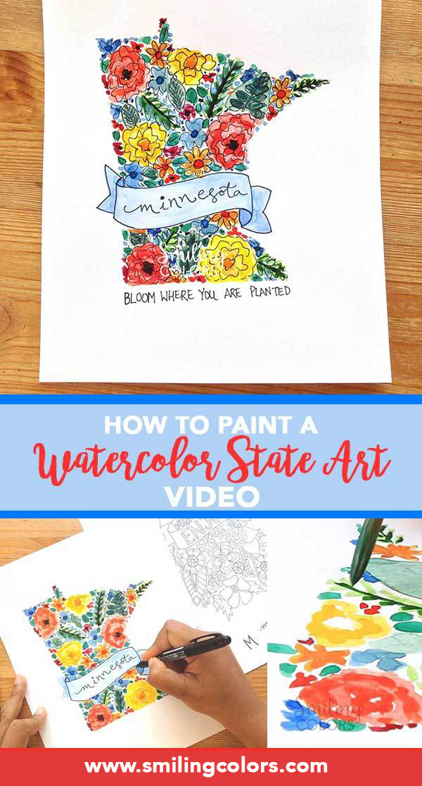 how to paint a watercolor State Art