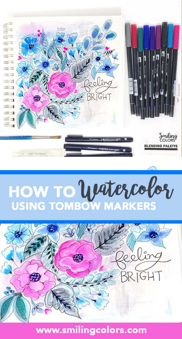 Watercoloring With Tombow Markers Video Smitha Katti