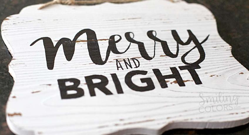 DIY hand lettered wood sign