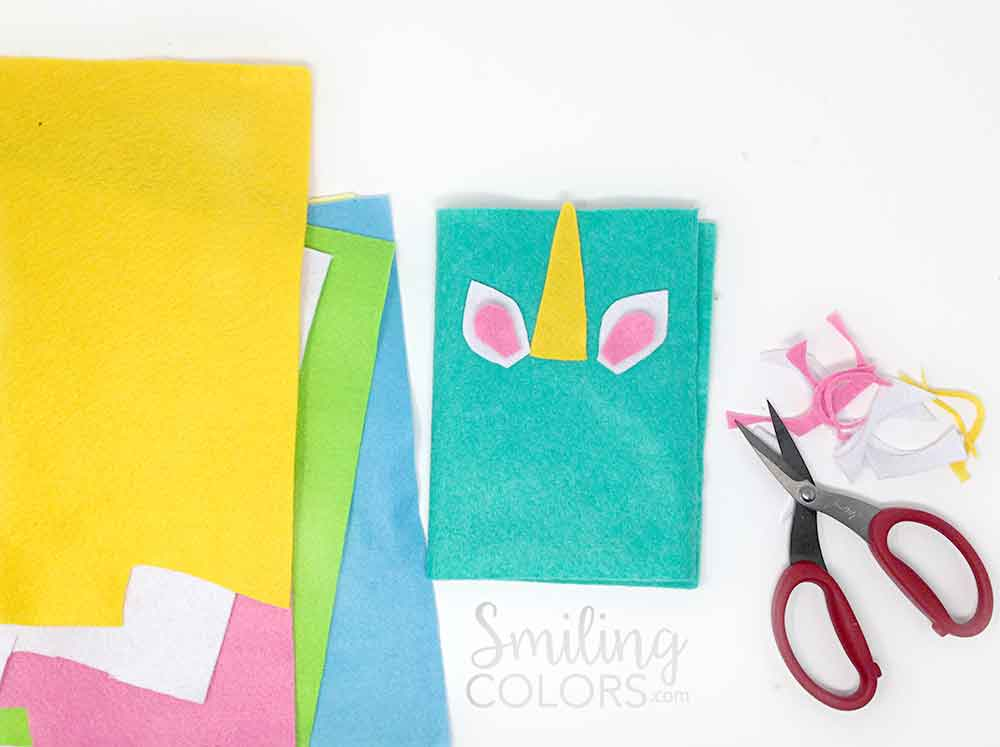 Diy Unicorn Book Cover : Unicorn notebook tutorial an easy beginner felt and glue