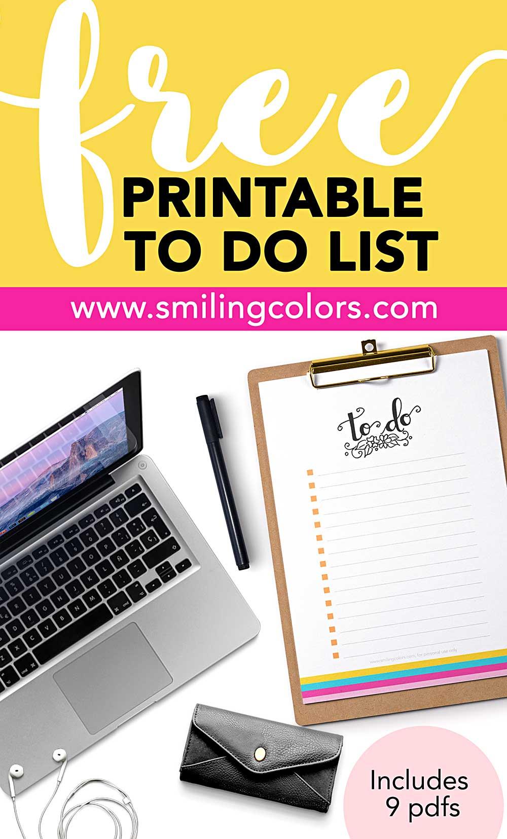 print to do list