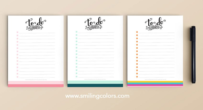 printable to to list hand lettered free