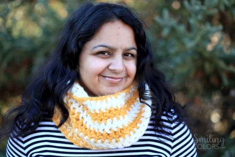 easy double crochet scarf