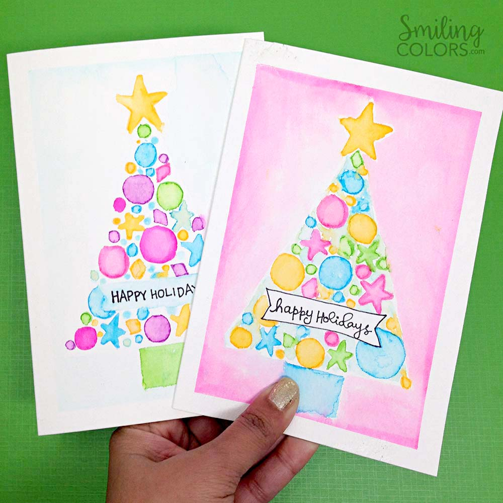 Watercolor christmas card tutorial that will make you want to paint the using a light pad like the cricut bright pad makes it easy to trace a design even onto watercolor paper i have tried the bright pad with good quality m4hsunfo