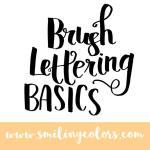 Brush Lettering tutorial for beginners! Basic techniques video