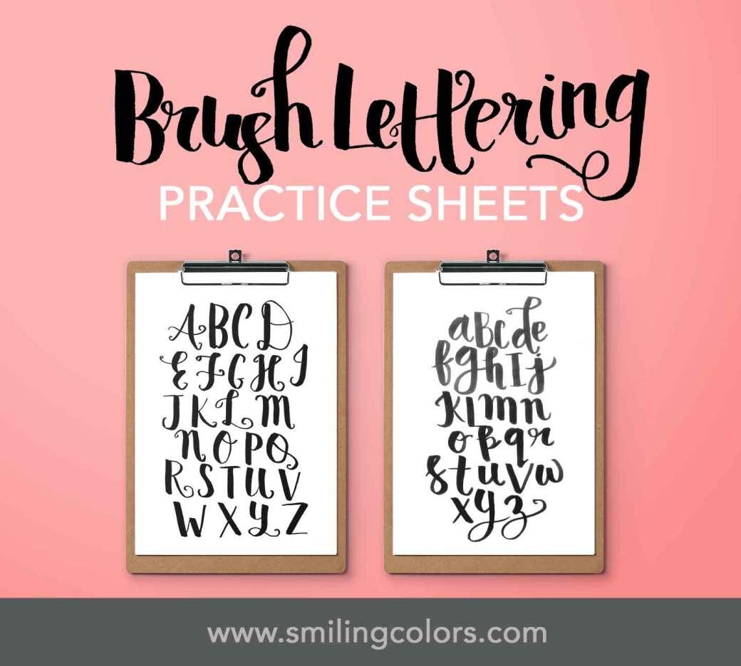 brush lettering tutorial basics worksheets