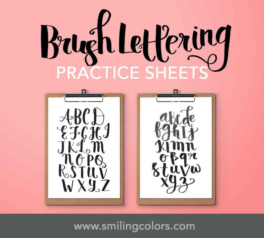 brush lettering tutorial basics worksheets
