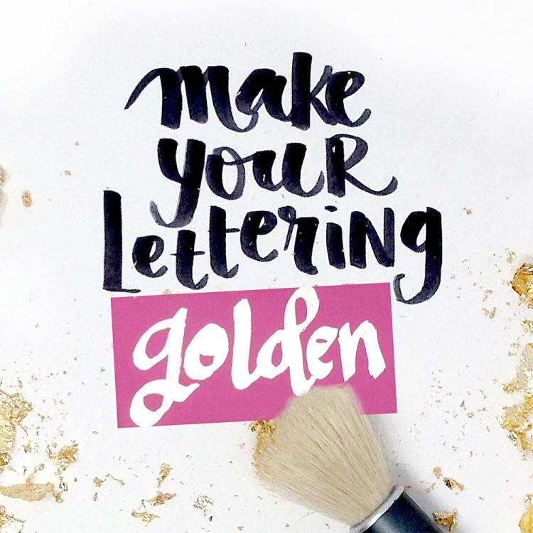 mixed media lettering embossing