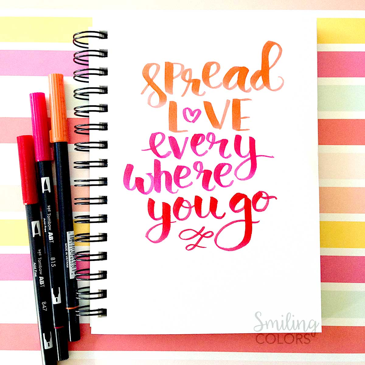 Tips On Blending Great Colors With Beige: Tombow Brush Pen Lettering- Tips For Choosing Colors And