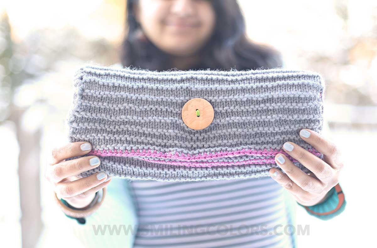Knit Fold Over Clutch