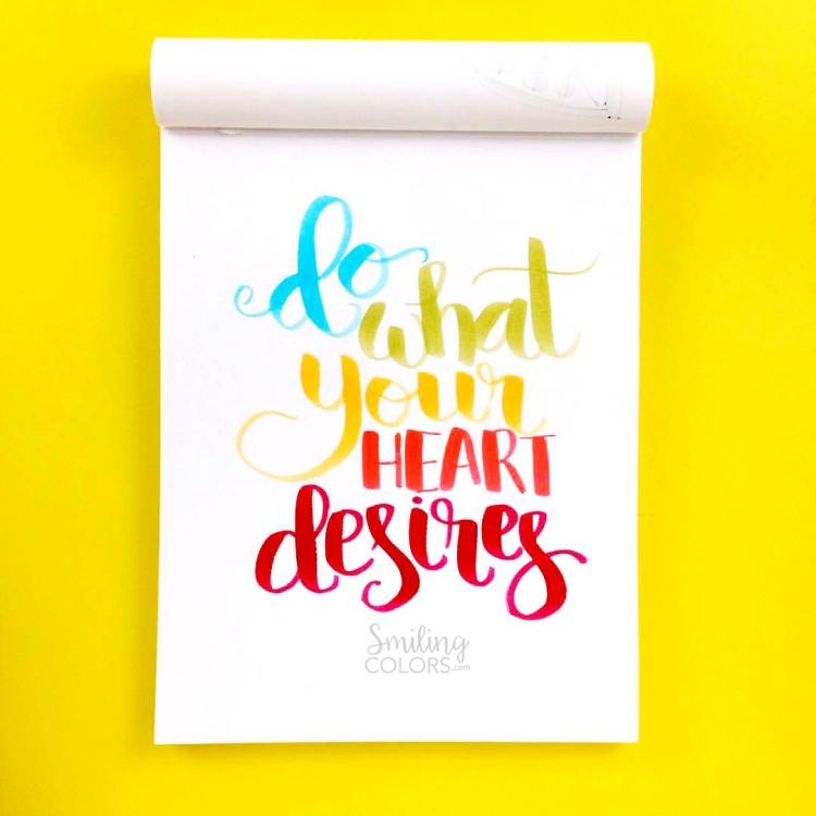 tombow-brush-pen-lettering-rainbow do what your heart desires