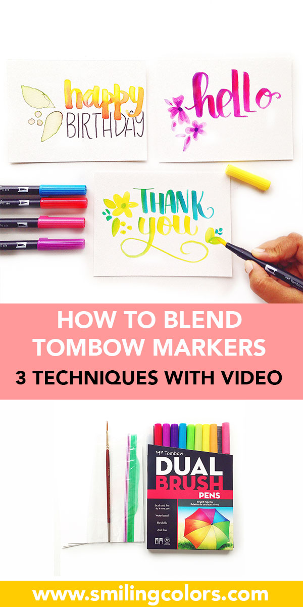 How To Blend Tombow Markers Video Showing 3 Ways