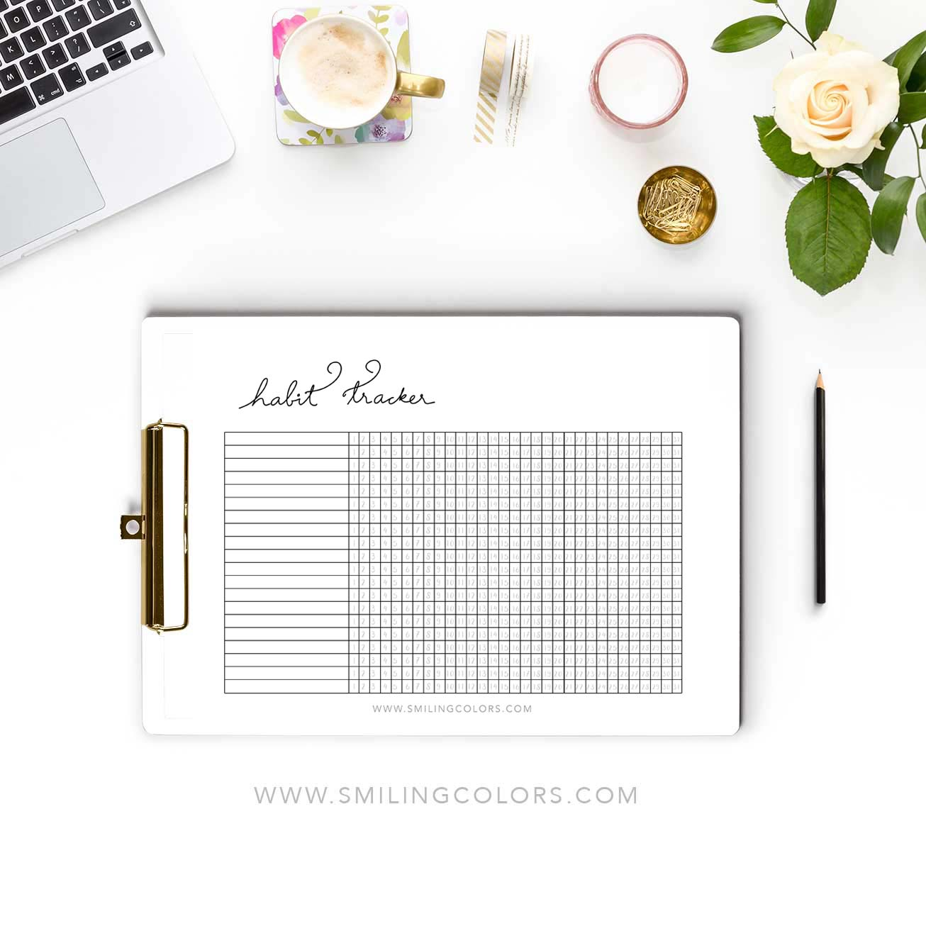 picture regarding Habit Tracker Printable Free referred to as Every month behavior tracker printable - Smitha Katti