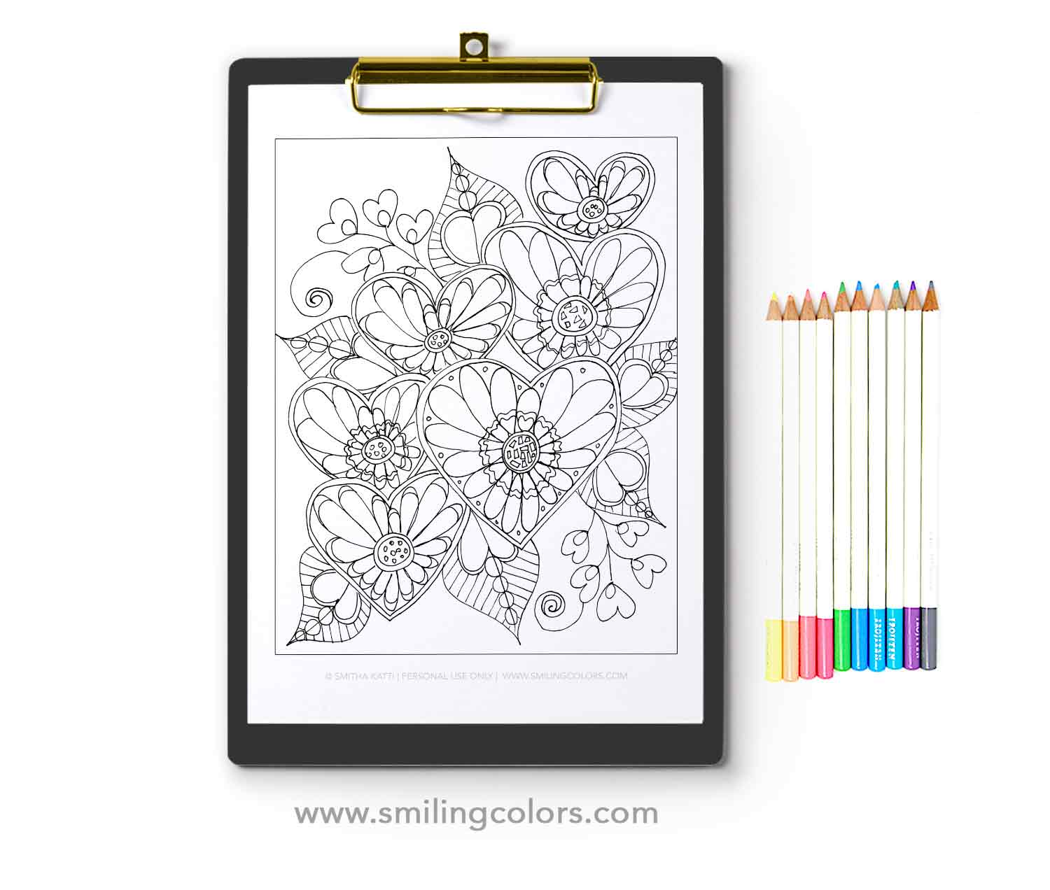 3 FREE Heart Coloring Pages That You Can Enjoy Now! - Smitha Katti