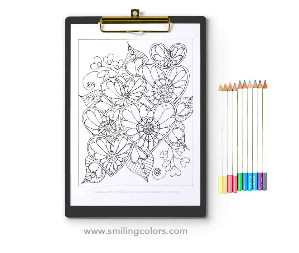 3 Free Heart Coloring Pages That You Can Enjoy Now Smitha Katti