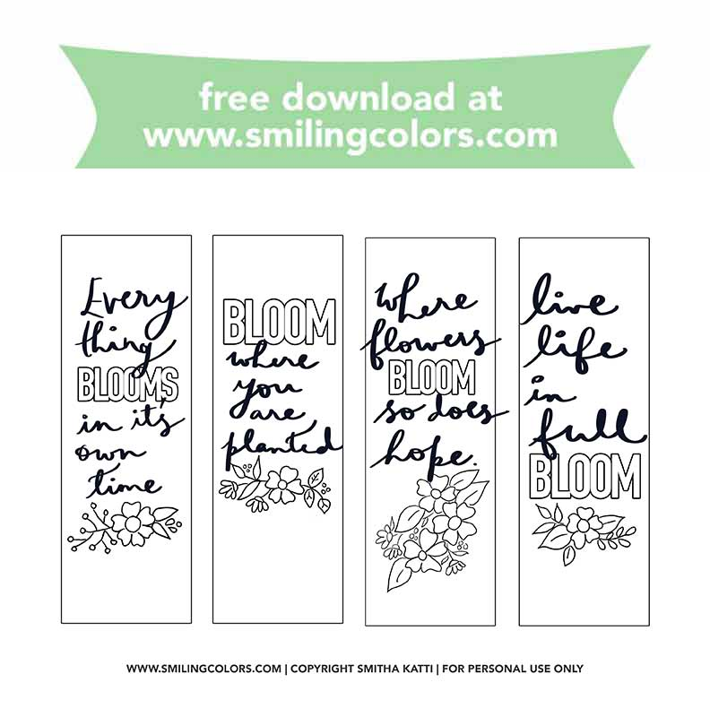 24 FREE Bookmarks To Print And Color To Celebrate National Reading Day