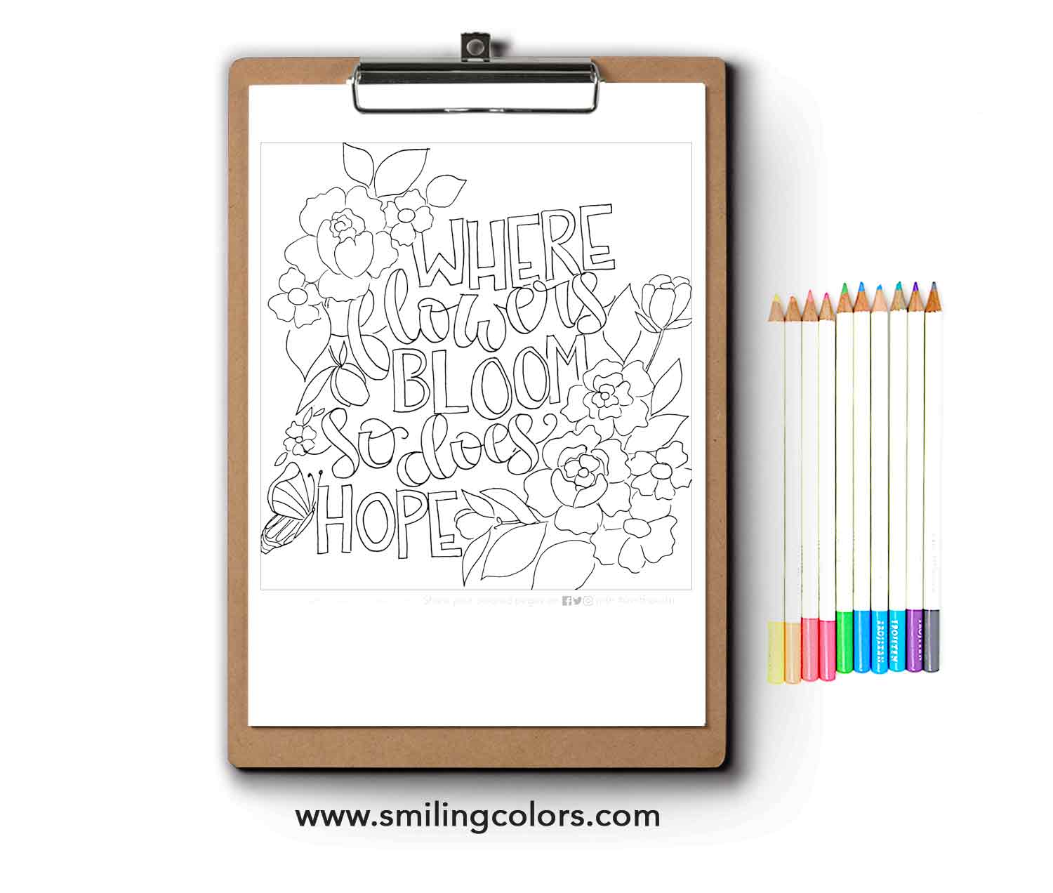 - Inspirational Coloring Page FREE Printable Download - Smitha Katti