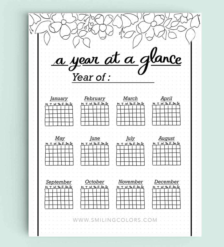Bullet Journal Printables Free To Help You Start Planning Smiling Colors
