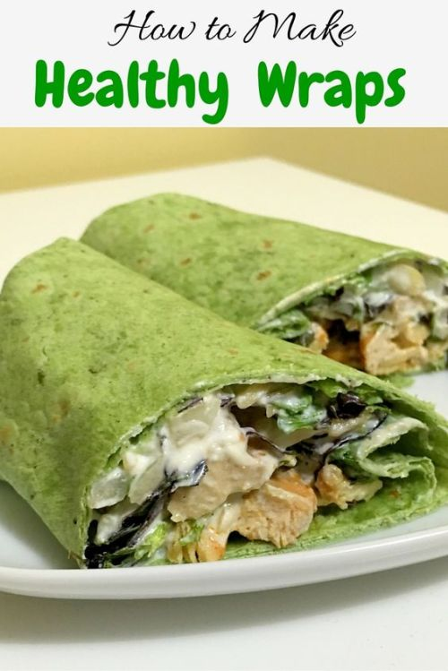 Healthy wraps with chicken and greek yogurt