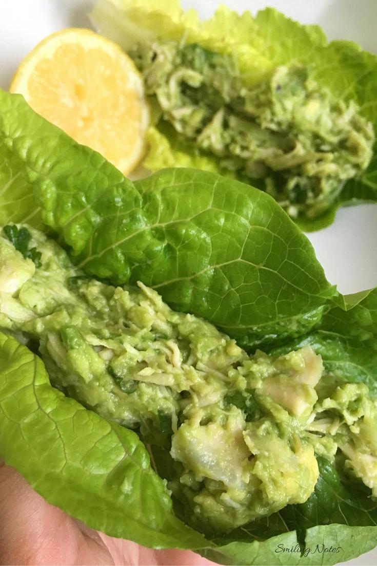 Healthy Avocado Chicken Lettuce Wraps