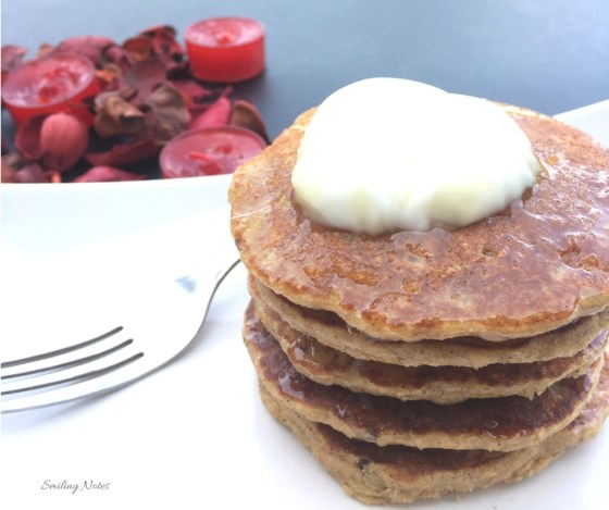 Healthy apple oat pancakes