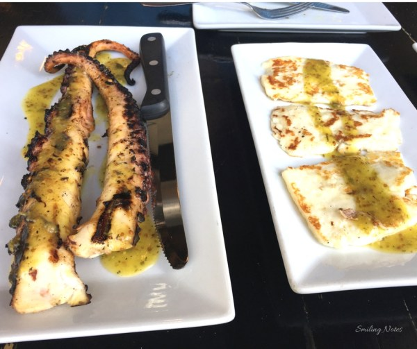 Grilled Octopus and Grilled Goat Cheese