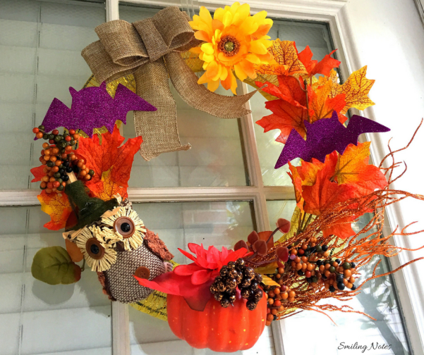 DIY Dollar Tree Halloween Wreath under $10
