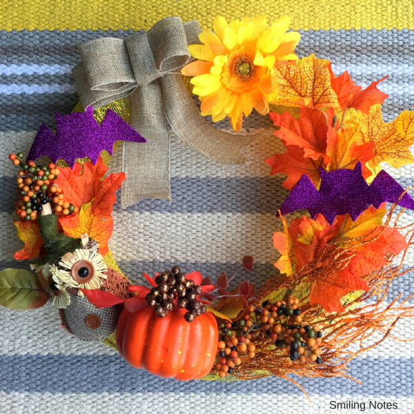 DIY Halloween/ Fall Wreath - Dollar Tree Crafts