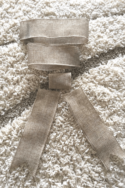 How to make Bow from Burlap Ribbon
