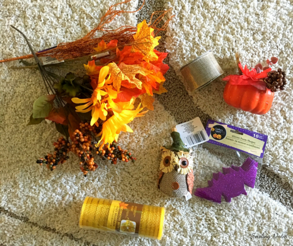 Supplies for DIY Halloween or Fall Wreath
