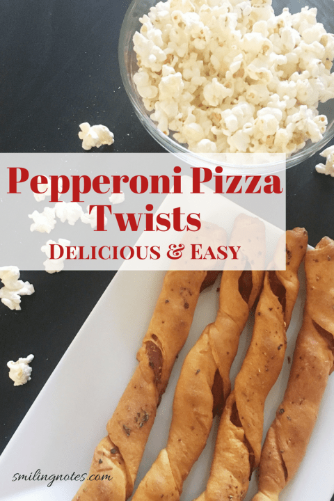Pepperoni Pizza Twists - delicious & easy party appetizer