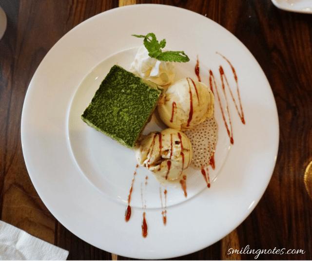 Matcha Ice Cream with Miso Ice cream at Amami Restaurant, Brooklyn New York