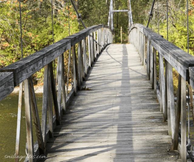 suspension bridge, Ithaca, New York