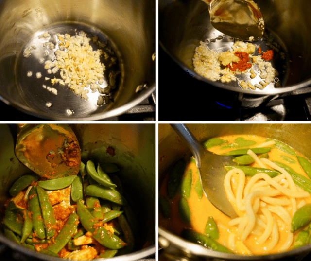 step by step photos for Thai noodle soup