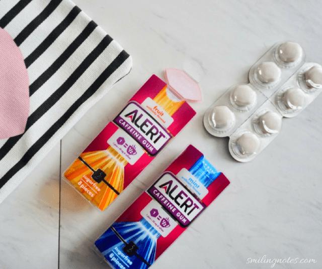alert caffeine gum - fruit and mint flavors