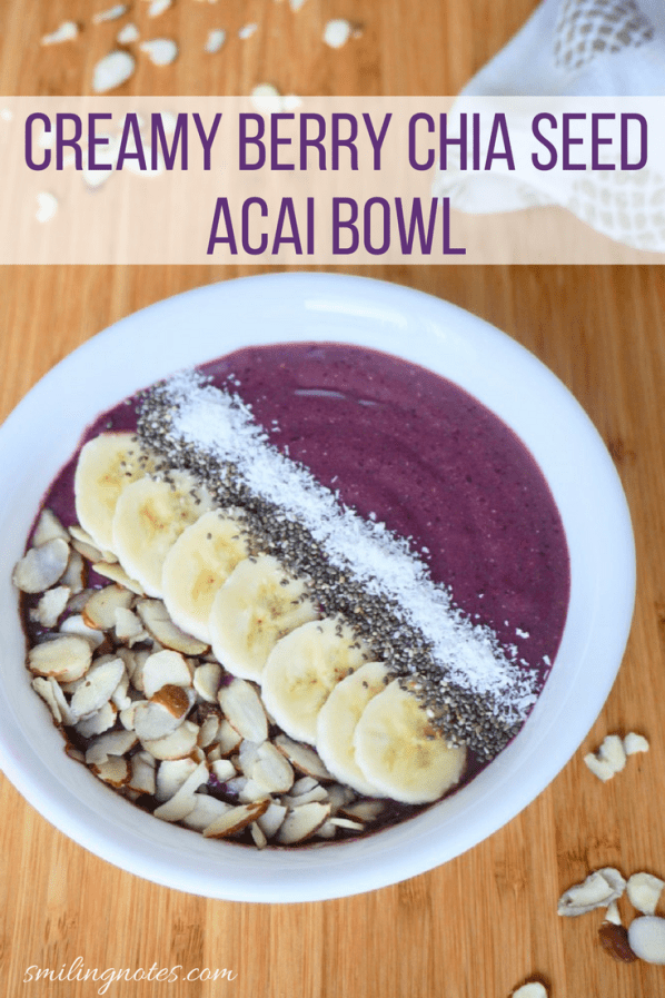 Creamy Berry Chia Seed Acai Bowl - This refreshing Creamy Berry Chia Seed Acai Bowl is a perfect way to start your mornings. #ad #PickNaturesSweetness