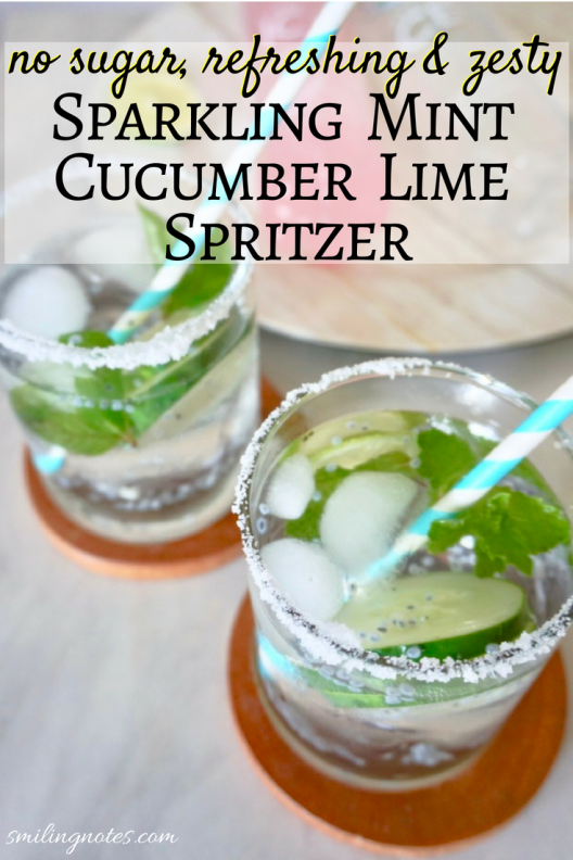Sparkling Mint Cucumber Lime Spritzer - kip the calories but still enjoy the flavor with this refreshing, fun and zesty Sparkling Mint Cucumber Lime Spritzer! #ad #GetFrizzy