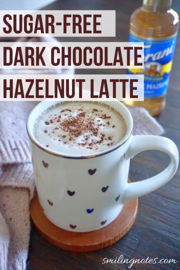 Who said that you need an expensive coffee machine to make a fancy latte at home? Check out this delicious Dark Chocolate Hazelnut Latte that you can whip up within minutes and enjoy it in the comfort of your home. The best part about it is that it is sugar-free so you can enjoy it with a guilt-free feeling! #ad aguiltfreeholiday #torani