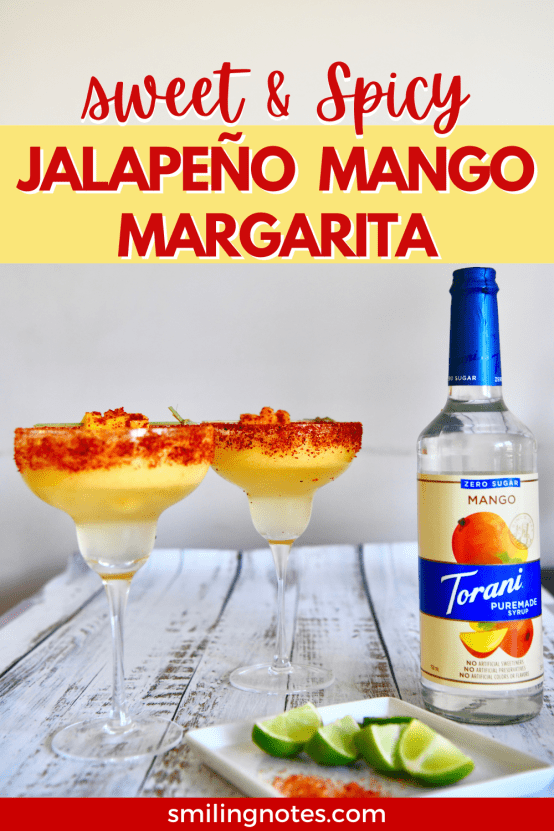 With summer just around the corner, it's time to bust out your grills and sip on some cool and refreshing drinks. This Sweet and Spicy Jalapeño Mango Margarita hits just the right notes and is the perfect combo of sweet and spicy flavors while you soak in some sunshine.