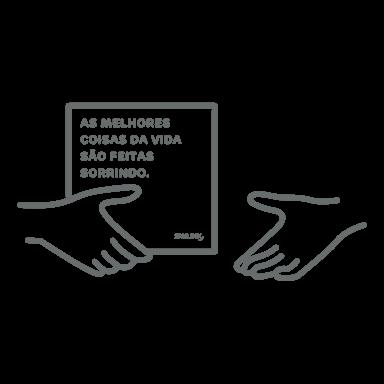 desenho da entrega de kit de alinhadores transparentes