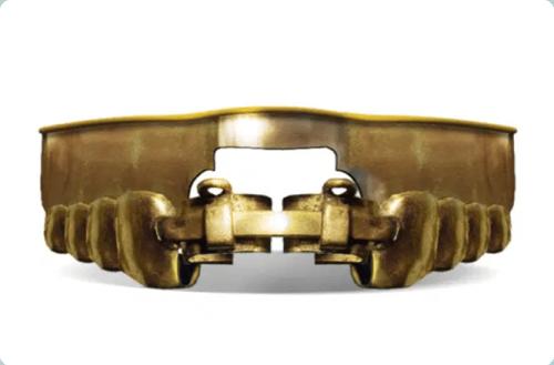 Primeiro aparelho ortodôntico-chamado Bandeau-feito ferro.