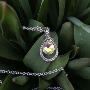 Sød swarovski sølvhalskæde