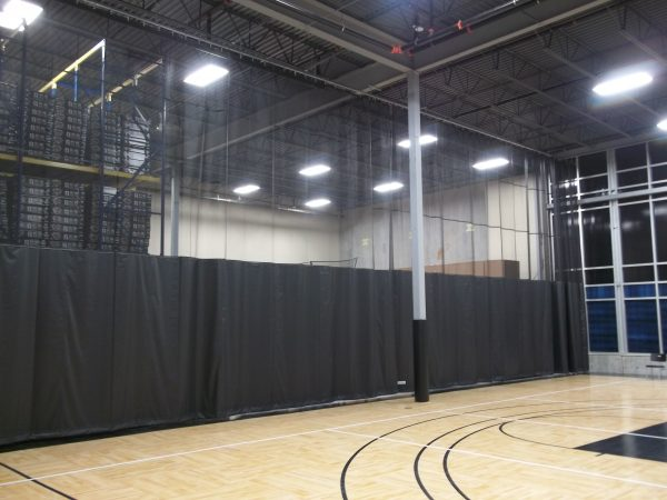 gym divider curtains gym athletic