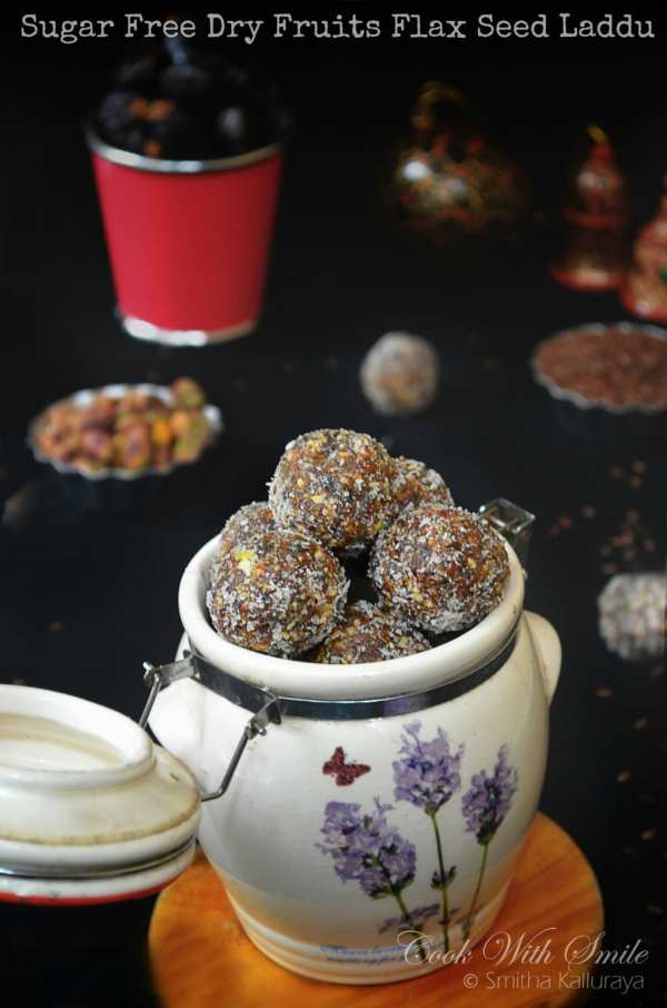 dates flaxseed laddu , dry fruits laddu