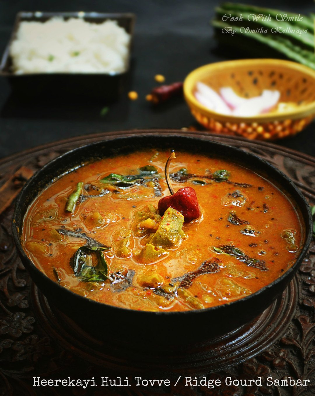 Huli tovve recipe karnataka style ridge gourd sambar recipe cook todays post is one such comforting traditional madhwa brahmin specialty dish from karnataka huli tovve this huli tovve is one of the must in bangalore forumfinder Image collections
