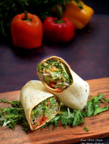 veg salad wrap