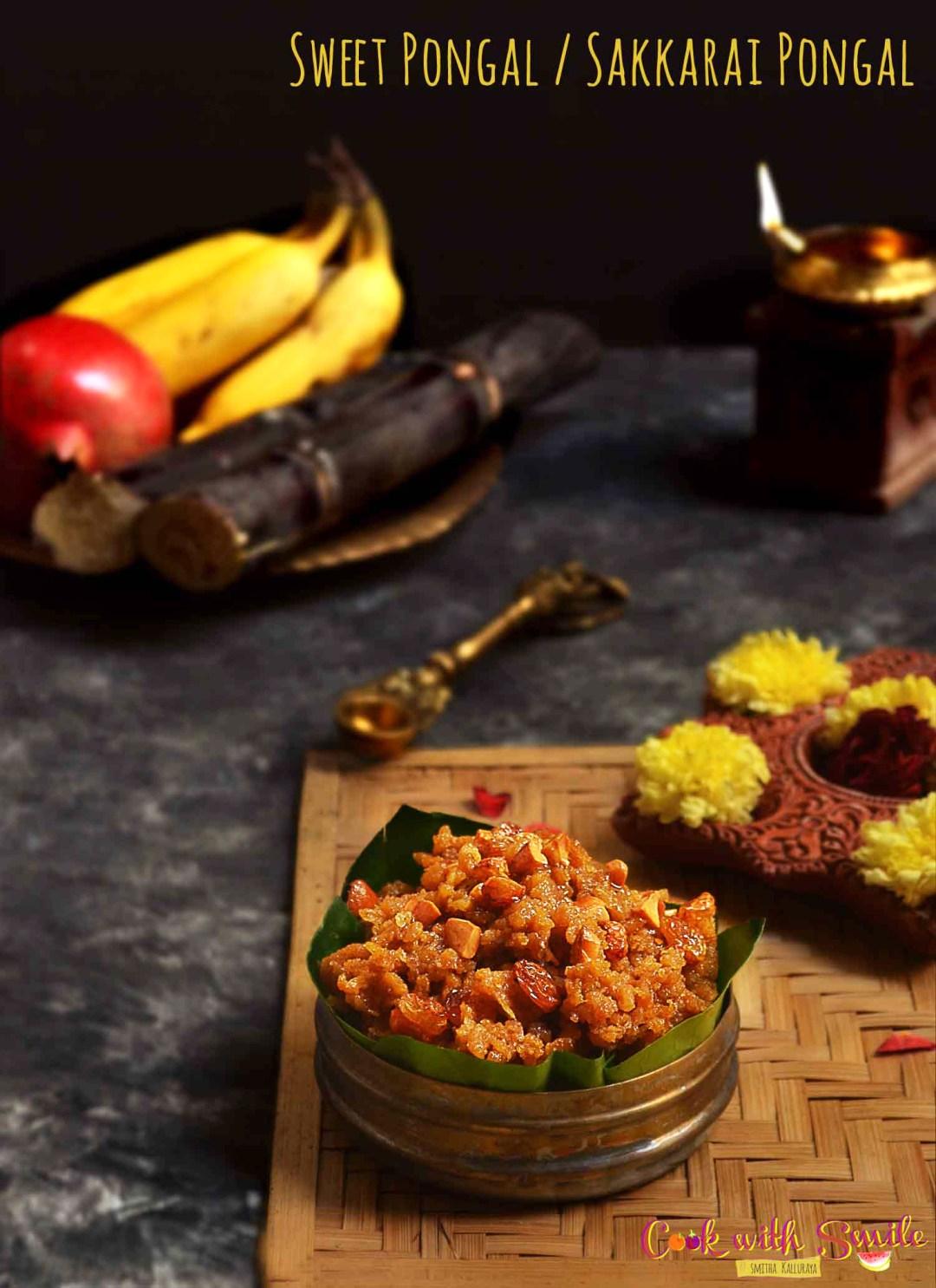sweet pongal recipe