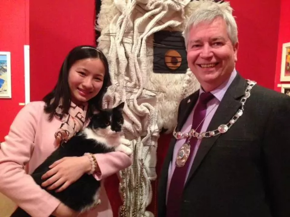 Our very own Stirling Provost Robbins and one of our volunteers